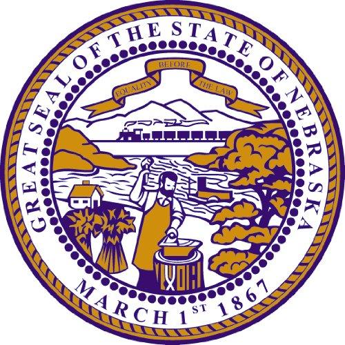 Nr. 2068 - Premium Autoaufkleber Nebraska USA Wappen Schild - Waschstrassen fest - Aufkleber Sticker