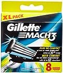 Gillette Lames de Rasoir Mach3 pour H...