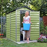 6ft x 4ft Plastic Shed - Brand New 6x4 Skylight Shed