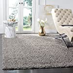 Safavieh Athens Shag Collection SGA119F Light Grey Area Rug (8 x 10)