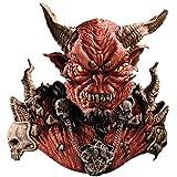 El Diablo Mask & Shoulders Devil Horror Latex Adult Halloween Costume Mask