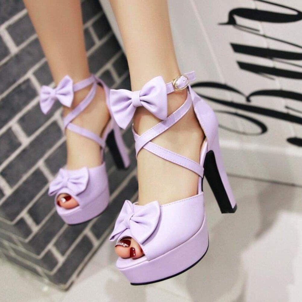 Ankle Strap Bowknot Platform Sandals