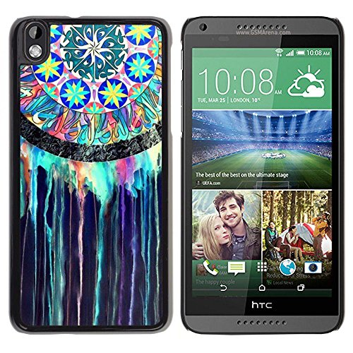Smartphone Protective Case Hard Shell Cover for Cellphone HTC DESIRE 816 / CECELL Phone case / / Dream Catcher Indian Stained Glass Watercolor /