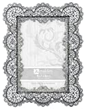 Malden Sabella Lace Metal Picture Frame, 4 by 6-Inch