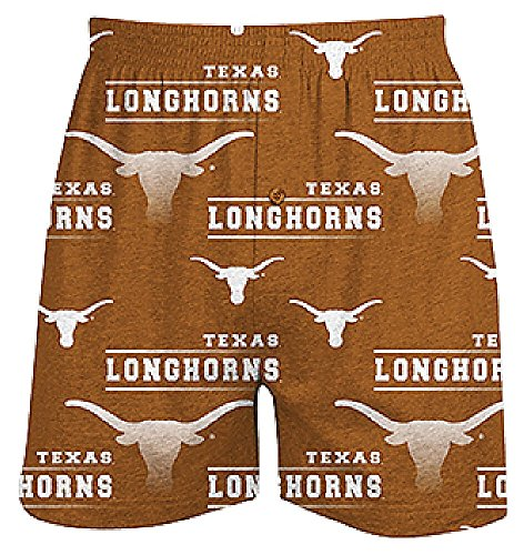 Texas Longhorns Mens Orange Oversized Fusion Boxer Shorts by