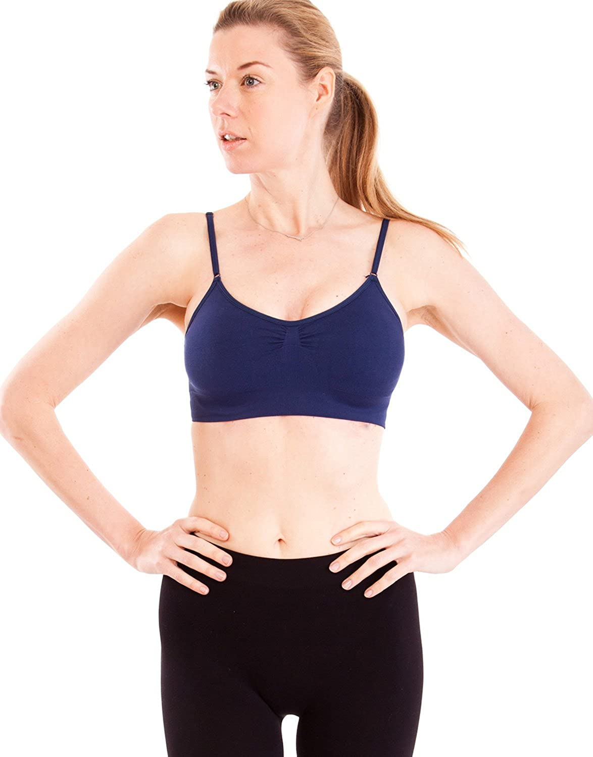 Navy Blue Seamless Sports Bra