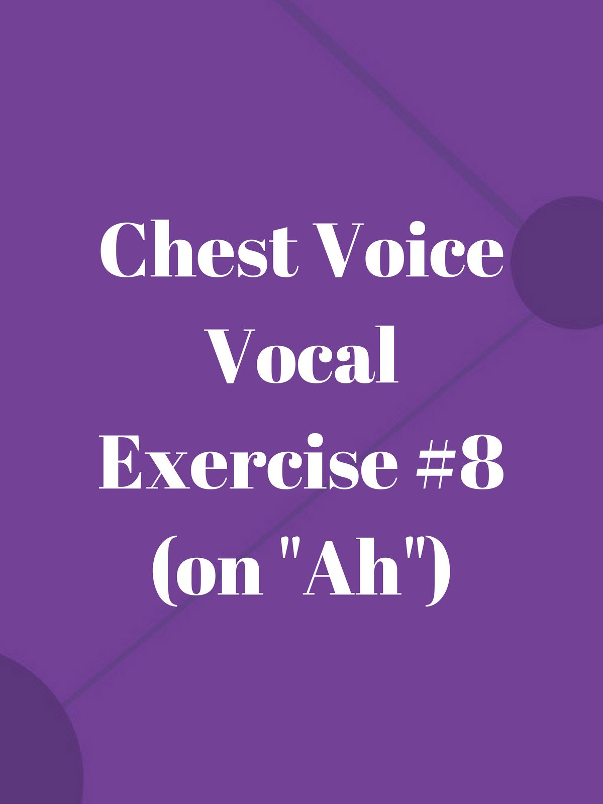 Chest Voice Vocal Exercise #8 (on Ah) on Amazon Prime Video UK