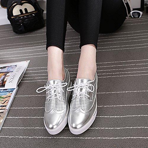 GGH Signore lavoro confortevole slittamento sui fannulloni delle donne scarpe casual Silver,38