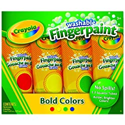 [Best price] Arts & Crafts - Crayola 4ct Washable Fingerpaints Primary (Bold, primary colors in red, blue, yellow, and green) - toys-games