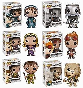 Magic: The Gathering MTG - Funko Pop! Figures - Set of Six: Chandra, Jace, Ajani, Liliana, Garruk and Nissa