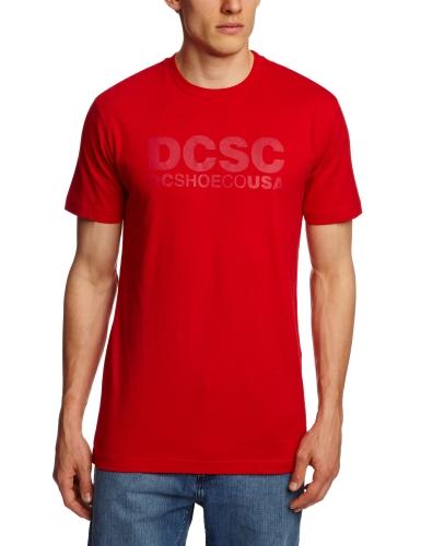 DC Shoes SC, a maniche corte, con Logo-Maglietta da uomo rosso  rosso S