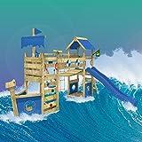 WICKEY Stormflyer Parques infantiles Toboganes Columpios Caj�n de arena azul Toboganes / azul techo