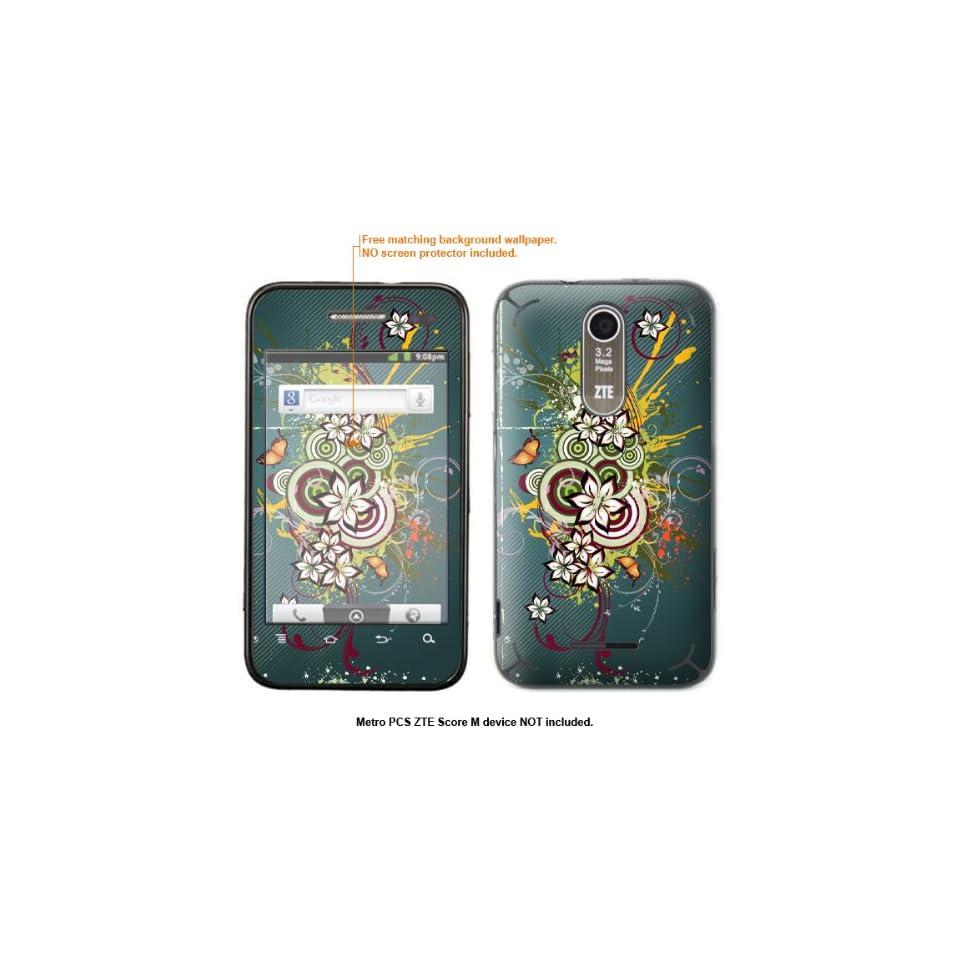 Protective Decal Skin Sticker for Metro PCS ZTE Score M case cover ZTEscoreM 446