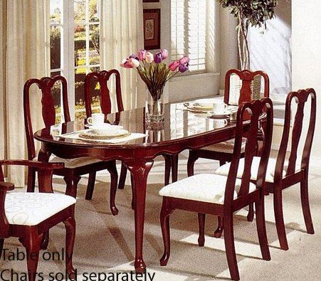 Furniture dining room furniture wood queen anne for Queen anne dining room