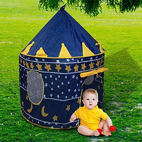 Cubierta Exterior Carpa de Castillo de Príncipe Juguete para Niños Chicos Azul