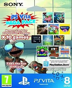 Sony PlayStation Vita 10 game Mega Pack on 8GB Memory Card (Playstation Vita)