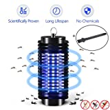 Electric Mosquito Killer Lamp,LED Bug Zapper,Insect Repeller, Pest Bug Killer Trap Night Light No Radiation Non-toxic Pest Zapper UV light Trap Lamp for Standing or Hanging INDOOR ONLY (Color: Upgraded Version)