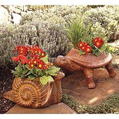 Napa Style Terra Cotta Snail Planter