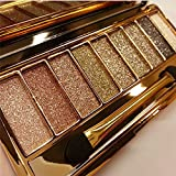 9 colors Diamond Bright Colorful Makeup Eyeshadow super Make up set flash Glitter Nk eye shadow Palette with Brushes