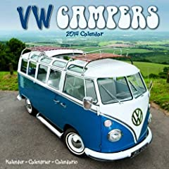 VW Campers 2014 Wall Calendar
