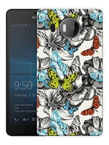 "Humor Gang Butterfly Pattern Printed Designer Mobile Back Cover For ""Nokia Lumia 950 XL"" (3D, Matte, Premium Quality Snap On Case)"