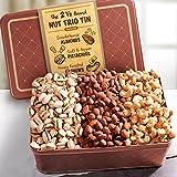 Golden State Fruit Father's Day Nut Trio Gift Tin, 2.5 Pound