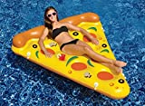 "72"" Water Sports Inflatable Pizza Slice Novelty Swimming Pool Float Raft"