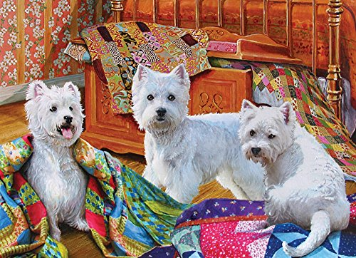 Cobble Hill Quilted Westies Jigsaw Puzzle, 1000-Piece
