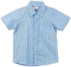 Oye Boy'S Half Sleeve Shirt - Blue (4-5Y)