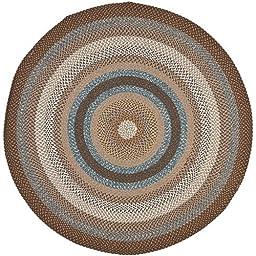 Safavieh Braided Brown Area Rug 100% Polypropylene (Handmade Rug) (Round 6\')