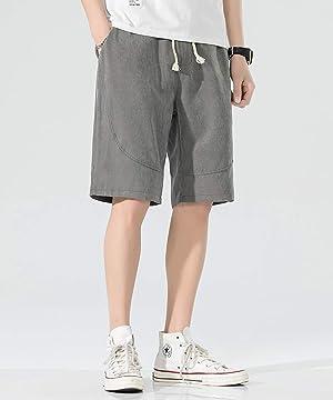 JIAYBL ショートパンツ メンズ ハーフパンツ 5分丈 短パン 男 無地 ゆったり 通気性 大きいサイズ