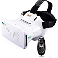 Ritech Riem III 3D Virtual Reality Headset wtih Remote Control in White
