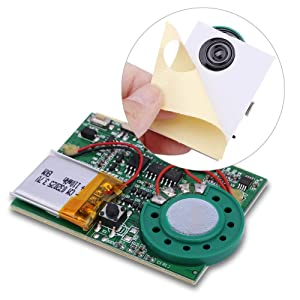 Tihebeyan USB Music High Sound Module, Voice Recording Module Chip Light Sensor, Push Button Activated Recordable Module for DIY Musical Gift Box Greeting Cards(photosensitive Control) (Color: photosensitive control)