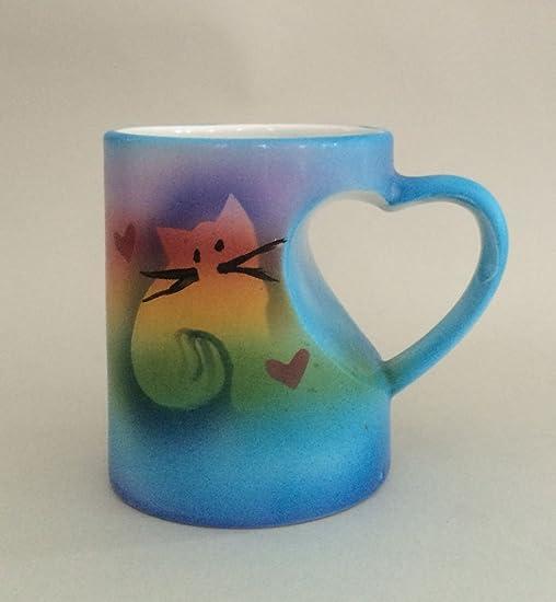 Kittycat Heart-handle Mug