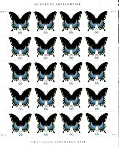 Spicebush Swallowtail Butterfly Sheet of 20 x 66 cent U.S. Postage Stamps