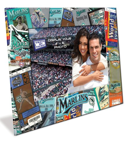 Florida Marlins Ticket Collage 4x6 Picture Frame at Amazon.com