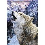 Wolf Twilight Wildlife Garden Flag Winter Double Sided Mini Banner 13