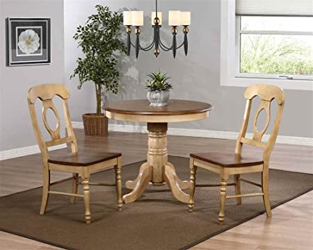 "3 pc Brookpond 36"" Round Dining Set with Napoleon Chairs"