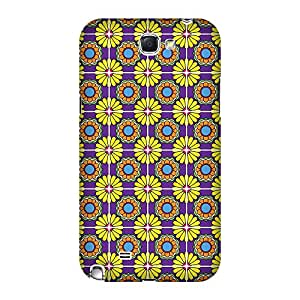 Super Cases Back Cover For Samsung Galaxy Note 2 (Multicolor)