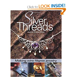 silver threads-making wire filigree jewelry