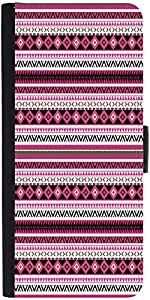 Snoogg Loud Aztec Pink And Black Graphic Snap On Hard Back Leather + Pc Flip ...
