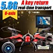 Helic Max 1315S Drone 4CH 2.4G RC Headless mode A key to return Quadcopter with HD Camera Real-Time Transmission (Color=Black&Red) brought to you by Helic Max