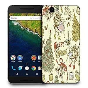 Snoogg Merry Christmas Cream Printed Protective Phone Back Case Cover For LG Google Nexus 6P