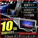 MG21S モコ 3.5インチ オンダッシュモニター + バックカメラセット