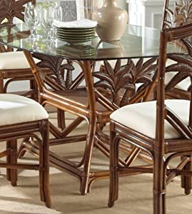 Amazon.com - Indoor Rattan & Wicker Rectangular Dining Table TC ...
