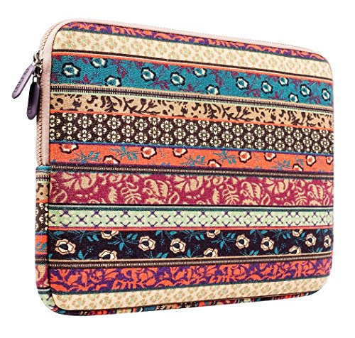 Plemo Bohemian Style Sleeve Carrying Case Bag for iPad Pro 9.7 Inch Tablet / iPad Air 2 / iPad 4 3 2 with Canvas Fabric, Compatible with Apple Smart Keyboard (Ipad 2 Sleeve compare prices)