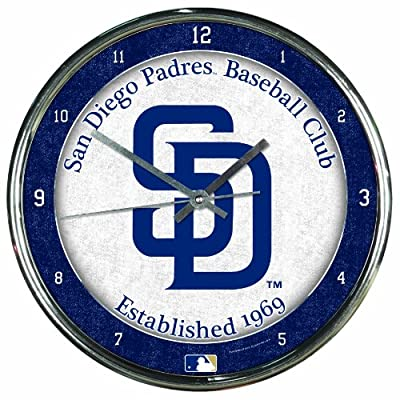 MLB San Diego Padres Chrome Clock