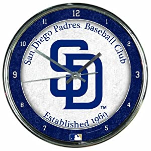 MLB San Diego Padres Chrome Clock by WinCraft