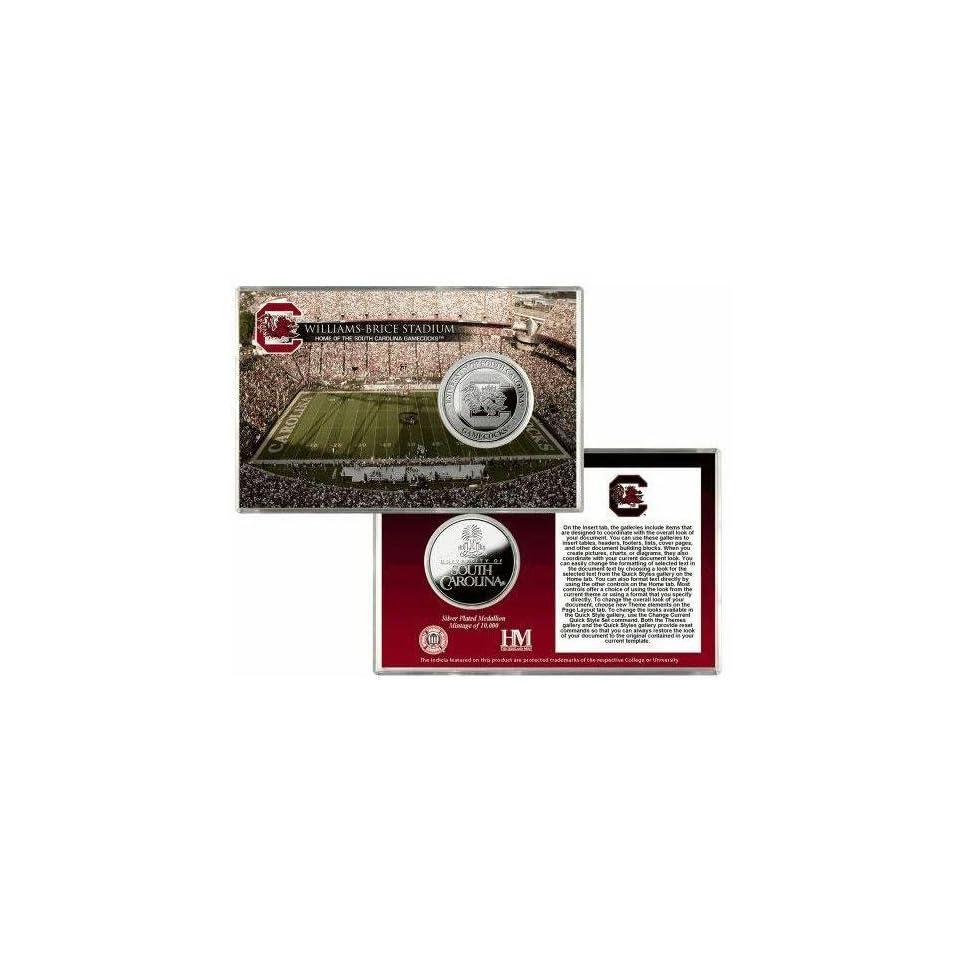 Highland Mint University of South Carolina Williams Brice Stadium Silver Coin Card THM UNIVSCSPCCK