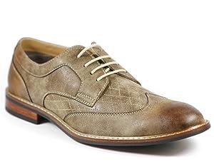 Ferro Aldo M-19266 Brown Mens Lace Up Wing Tip Dress Classic Shoes (9)